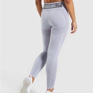 GYMSHARK High Waisted Flex Leggings Large Gray